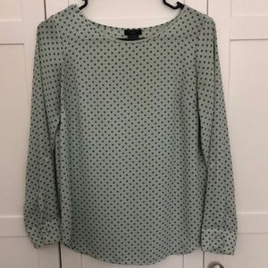 Ann Taylor mint with floral design blouse